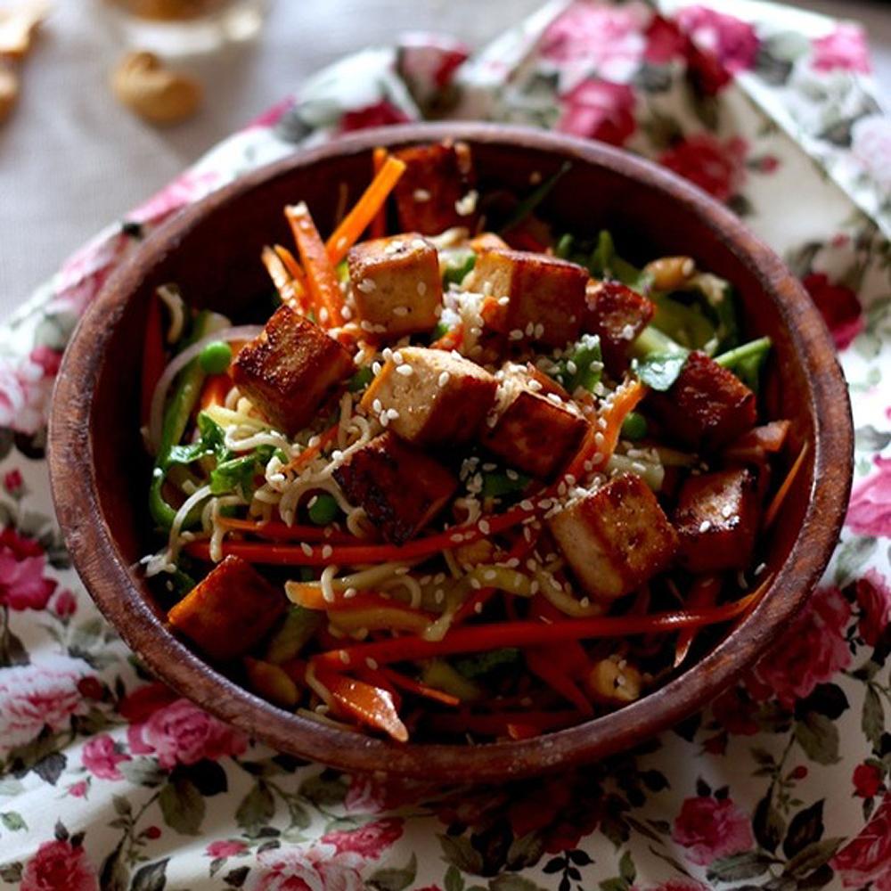 salade asiatique au tofu mariné - cuisine - blogue - pratico pratique