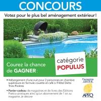 Concours Populus: votez pour votre aménagement extérieur préféré!