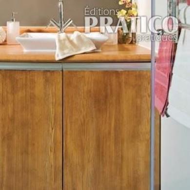 Un meuble lavabo trompe l 39 oeil salle de bain avant apr s d coration et r novation - Meuble trompe l oeil ...
