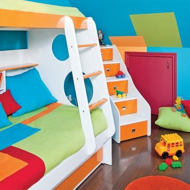 festival des couleurs pour la chambre d 39 enfant chambre inspirations d coration et. Black Bedroom Furniture Sets. Home Design Ideas