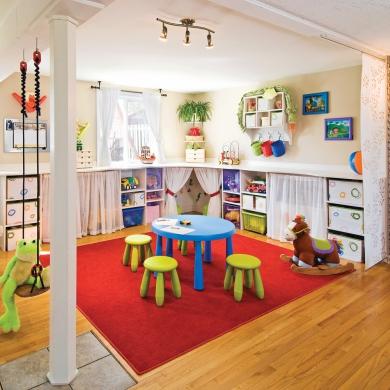 salle de jeu multicolore rangement inspirations d coration et r novation pratico pratique. Black Bedroom Furniture Sets. Home Design Ideas