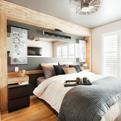 chambre rustique et chic chambre inspirations d coration et r novation pratico pratique. Black Bedroom Furniture Sets. Home Design Ideas