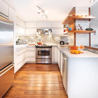 un espace cuisine d cloisonn cuisine avant apr s d coration et r novation pratico pratique. Black Bedroom Furniture Sets. Home Design Ideas