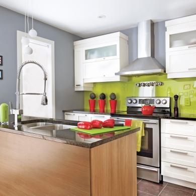 Une cuisine r anim e cuisine avant apr s d coration for Decoration d une cuisine