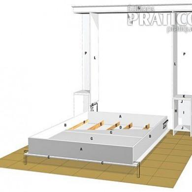 Fabriquer un lit escamotable en tapes d coration et r novation pratico - Plan pour fabriquer un lit ...