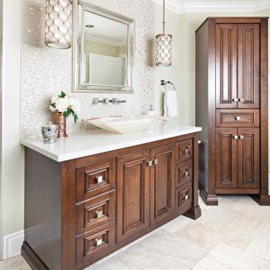 Ornement chic pour une salle de bain classique salle de - Salle de bain classique chic ...