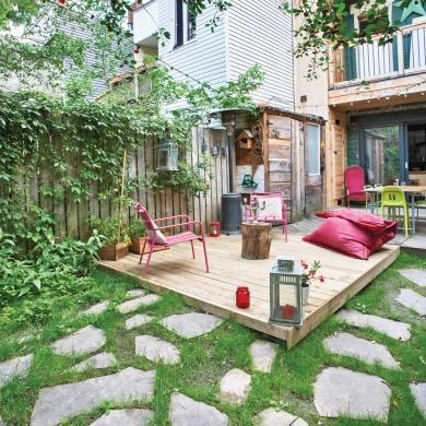 terrasse d tente petit budget avant apr s d coration. Black Bedroom Furniture Sets. Home Design Ideas