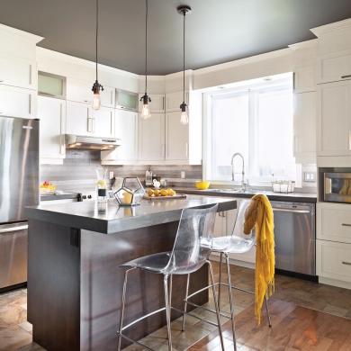une transfo petit prix dosseret b ton dans la cuisine cuisine avant apr s d coration et. Black Bedroom Furniture Sets. Home Design Ideas