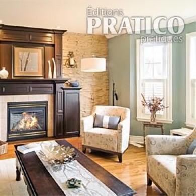 L 39 l gance d 39 un chaud manteau de chemin e salon avant - Decoration foyer salon ...