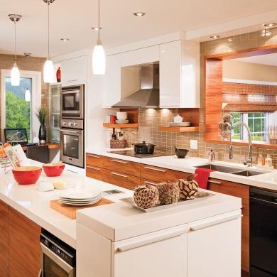 cuisine contemporaine et fonctionnelle cuisine inspirations d coration et r novation. Black Bedroom Furniture Sets. Home Design Ideas