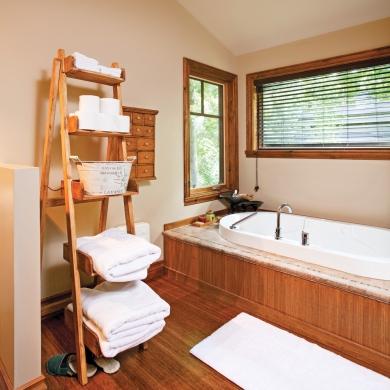 une salle de bain au cachet intemporel salle de bain inspirations d coration et r novation. Black Bedroom Furniture Sets. Home Design Ideas