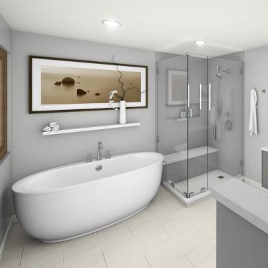 Une salle de bain zen et épurée - Salle de bain - Inspirations ...