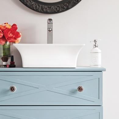 en tapes transformer une commode en meuble lavabo en tapes d coration et r novation. Black Bedroom Furniture Sets. Home Design Ideas