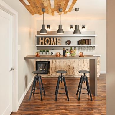 du plancher au plafond pour un coin bar effet wow sous sol inspirations d coration et. Black Bedroom Furniture Sets. Home Design Ideas