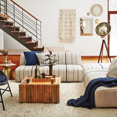 d co artisanale inspir e des ann es 70 salon inspirations d coration et r novation. Black Bedroom Furniture Sets. Home Design Ideas