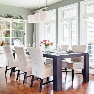 une salle manger transform e par la peinture salle manger avant apr s d coration et. Black Bedroom Furniture Sets. Home Design Ideas