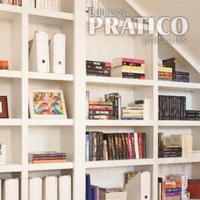 Biblioth que murale pleine largeur rangement - Decoration bibliotheque murale salon ...