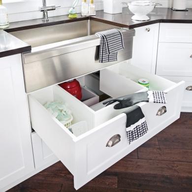 un tiroir sous l 39 vier cuisine inspirations d coration et r novation pratico pratique. Black Bedroom Furniture Sets. Home Design Ideas