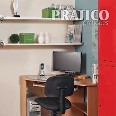 un coin ordi pour la famille bureau avant apr s d coration et r novation pratico pratique. Black Bedroom Furniture Sets. Home Design Ideas