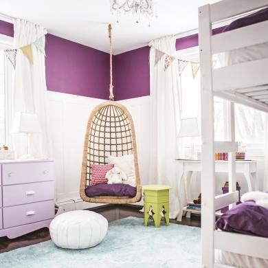 Bandeau de peinture prune dans la chambre chambre for Peinture prune chambre