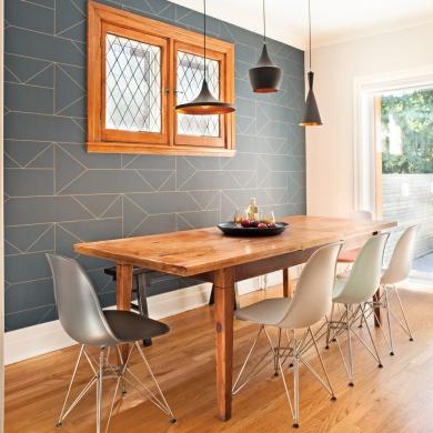 papier peint ultra tendance pour la salle manger salle. Black Bedroom Furniture Sets. Home Design Ideas