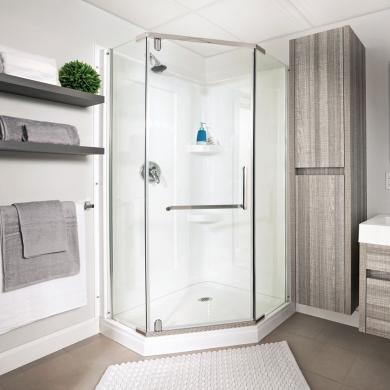 en tapes poser une douche en acrylique en tapes d coration et r novation pratico pratique. Black Bedroom Furniture Sets. Home Design Ideas