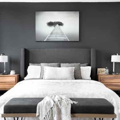 Gris charbon dans la chambre à coucher - Chambre - Inspirations ...