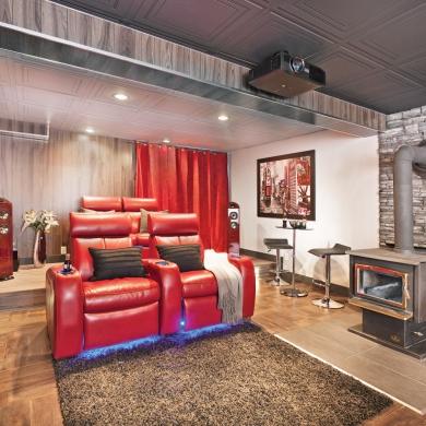 avant apr s cin ma maison exp rience maximis e sous sol avant apr s d coration et. Black Bedroom Furniture Sets. Home Design Ideas