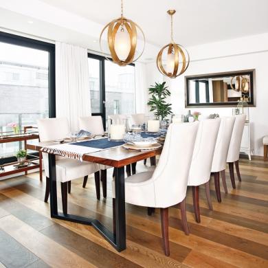 Une salle manger chic et l gante salle manger - Salle manger scandinave un decor elegant et pratique ...