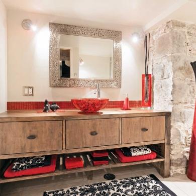 M lange rustico urbain pour la salle de bain salle de for Decoration urbaine