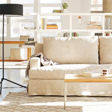 Le canap en lin salon inspirations d coration et r novation pratico pratique - Canape en lin blanc ...