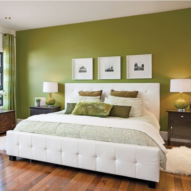 Chambre en vert et blanc chambre inspirations for Chambre kaki et blanc