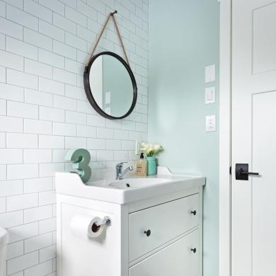 salle d 39 eau couleur pastel salle de bain inspirations d coration et r novation pratico. Black Bedroom Furniture Sets. Home Design Ideas
