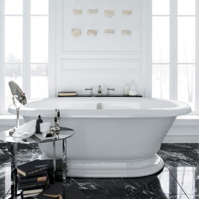 une salle de bain classique et chic salle de bain inspirations d coration et r novation. Black Bedroom Furniture Sets. Home Design Ideas