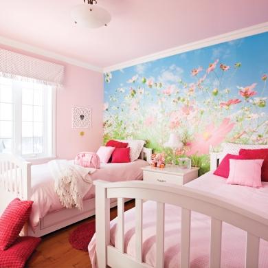 Une chambre rose poudre chambre inspirations - Chambre rose poudre ...