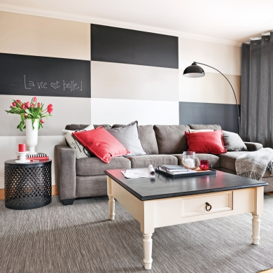 en tapes peindre un damier parfait au mur en tapes d coration et r novation pratico. Black Bedroom Furniture Sets. Home Design Ideas