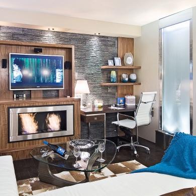un bureau au salon salon inspirations d coration et r novation pratico pratique. Black Bedroom Furniture Sets. Home Design Ideas