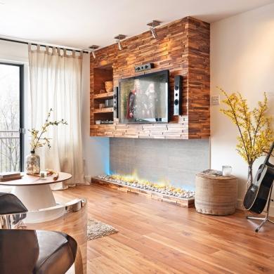 un salon rustique chic salon avant apr s d coration et r novation pratico pratique. Black Bedroom Furniture Sets. Home Design Ideas