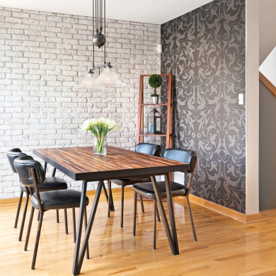 salle manger scandinave industrielle salle manger inspirations d coration et. Black Bedroom Furniture Sets. Home Design Ideas