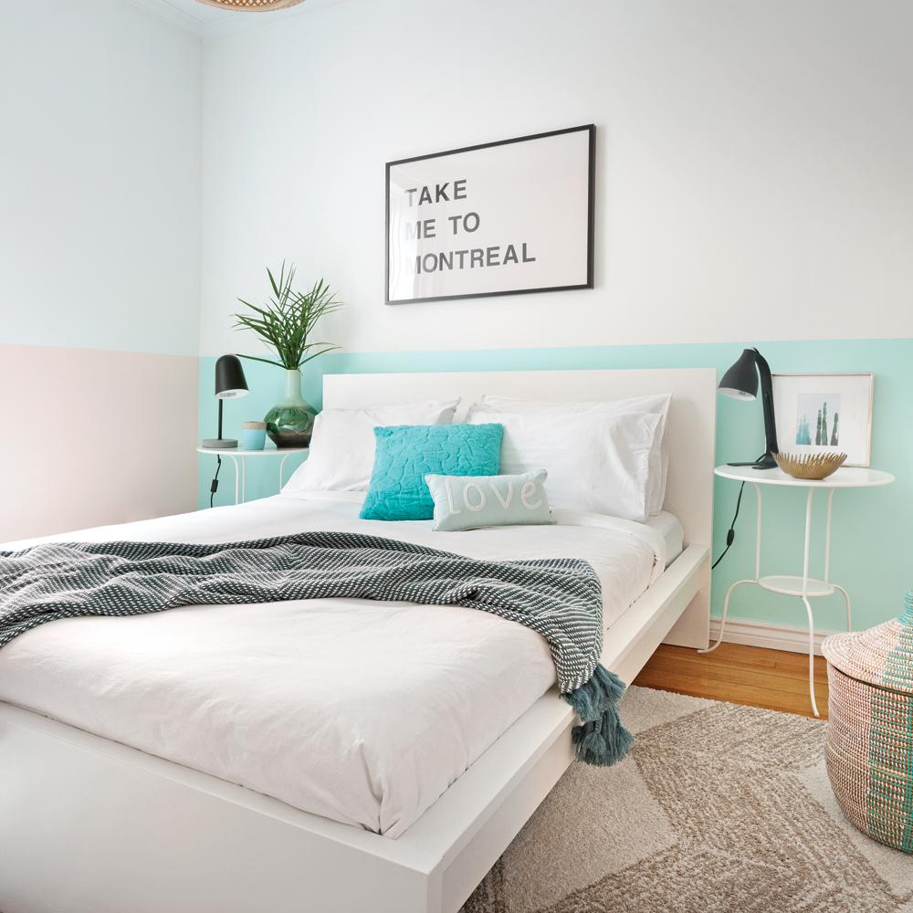 chambre peinte en bleu enfants chambre bleu ciel papier peint au plafond blanc nuages papier. Black Bedroom Furniture Sets. Home Design Ideas