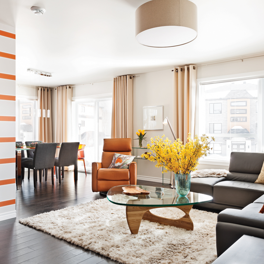 3 trucs infaillibles pour harmoniser les aires ouvertes trucs et conseils d coration et. Black Bedroom Furniture Sets. Home Design Ideas