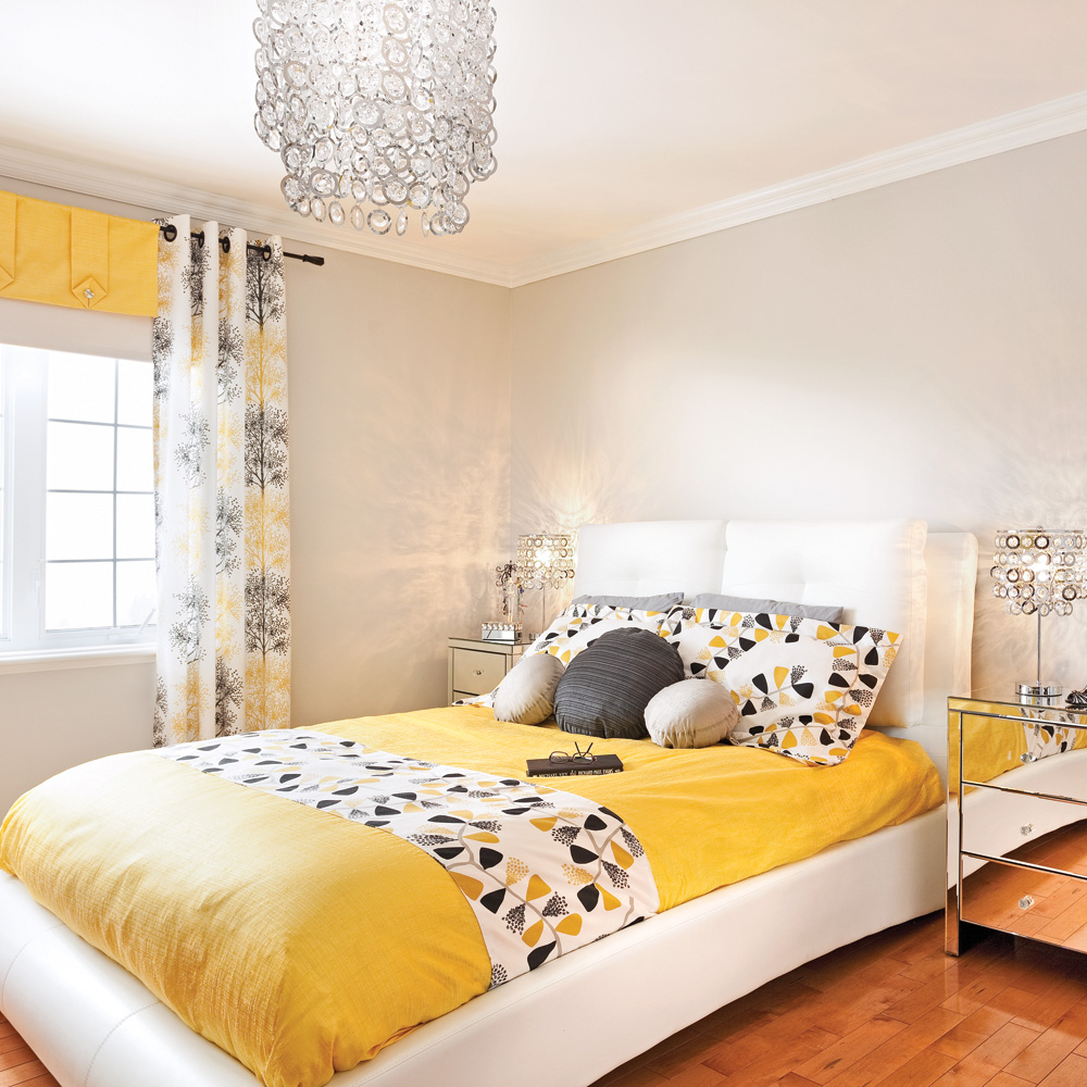 jaune tendance dans la chambre chambre inspirations d coration et r novation pratico. Black Bedroom Furniture Sets. Home Design Ideas