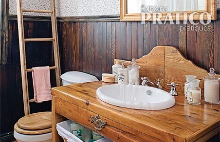 Belle salle de bain d 39 autrefois salle de bain avant apr s d coratio - Lambris style ancien ...