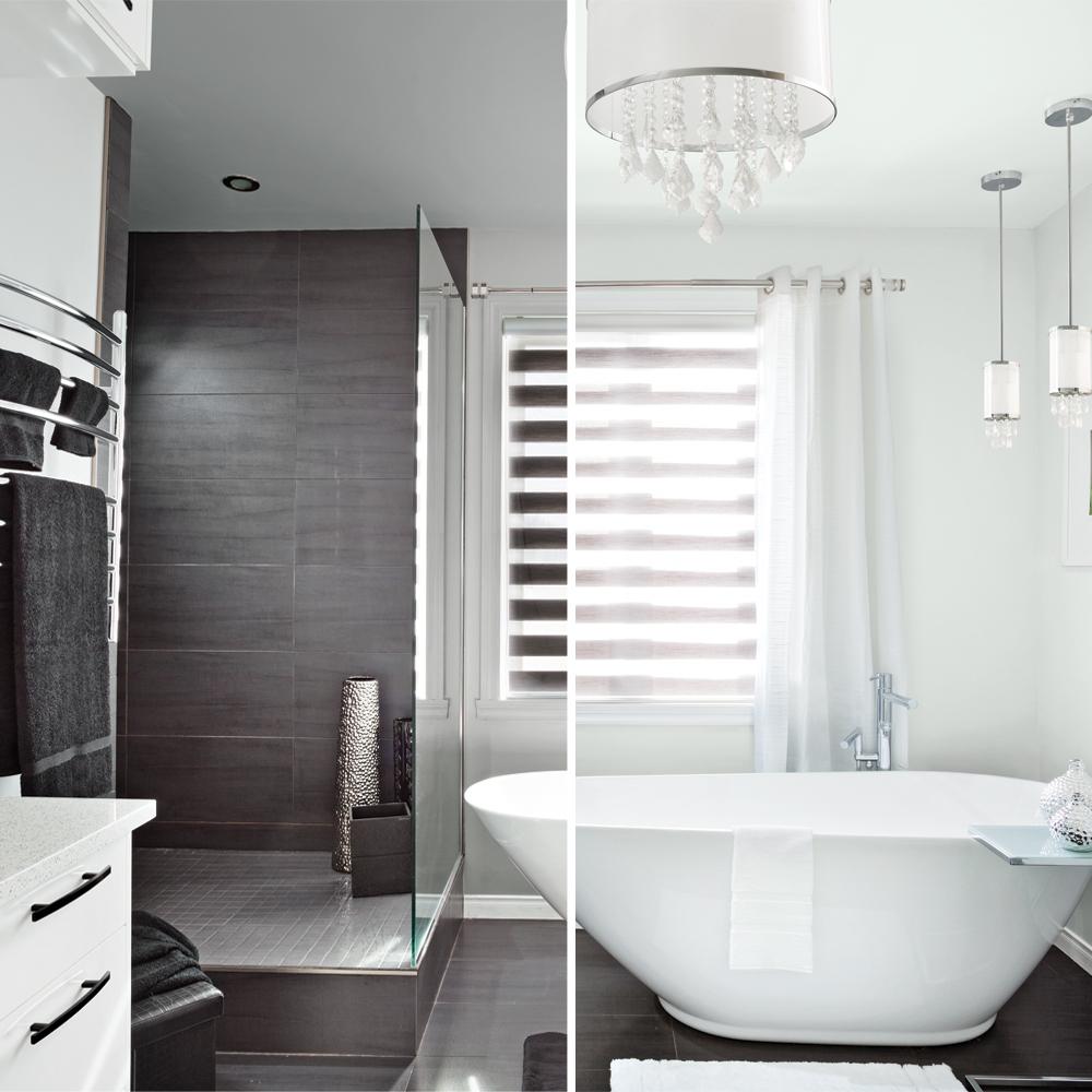 une salle de bain deux ambiances salle de bain inspirations d coration et r novation. Black Bedroom Furniture Sets. Home Design Ideas