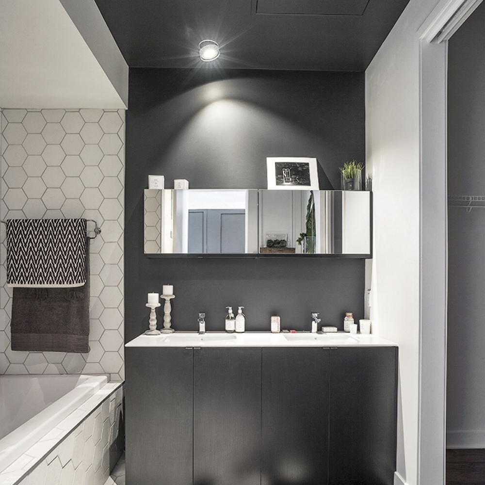 plafond peint la salle de bain salle de bain inspirations d coration et r novation. Black Bedroom Furniture Sets. Home Design Ideas
