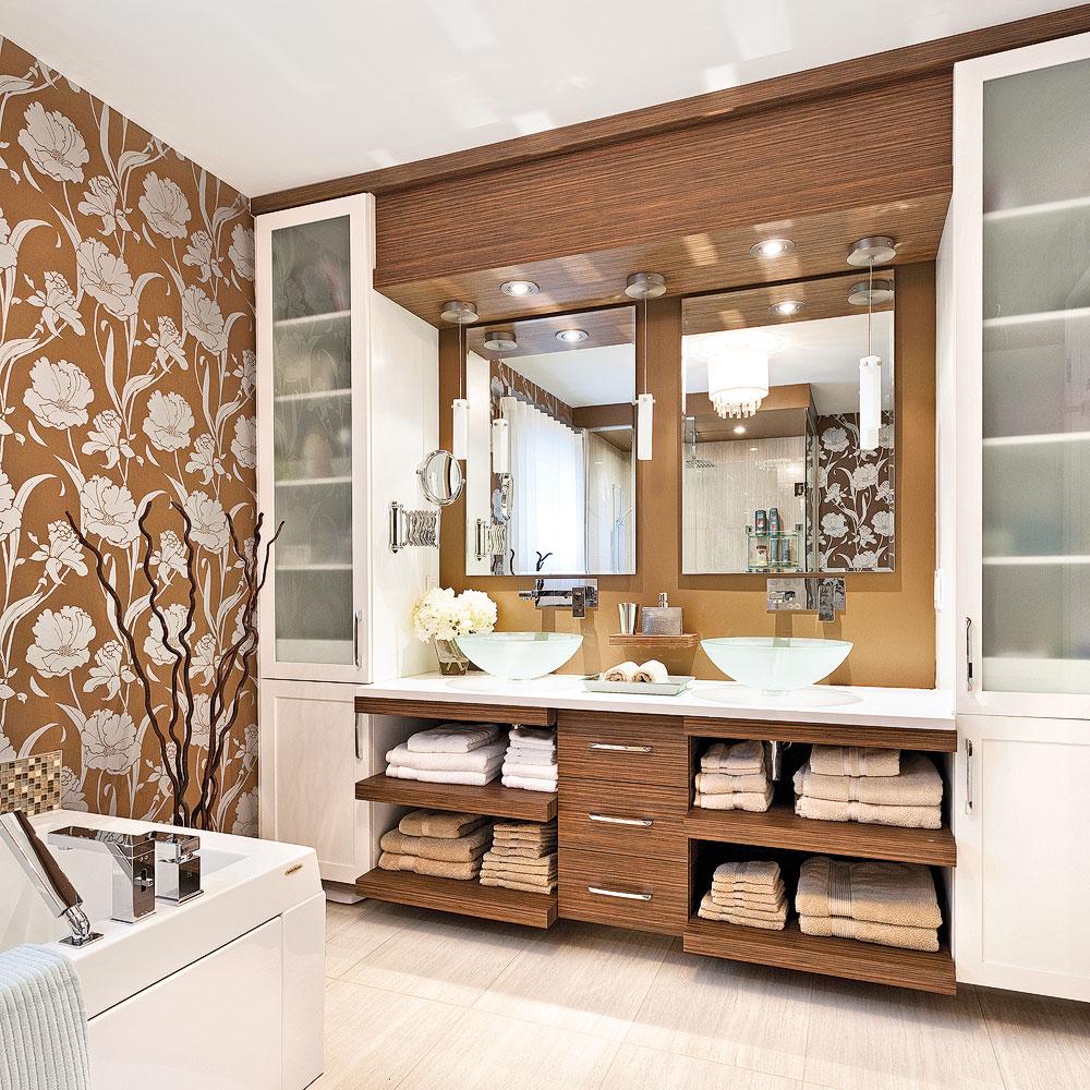 salle de bain double ton - salle de bain - inspirations ... - Rangement Pratique Salle De Bain