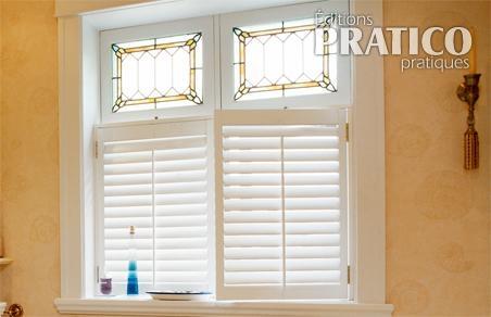 vitrail et persiennes pour conserver son intimit salle de bain inspirations d coration et. Black Bedroom Furniture Sets. Home Design Ideas