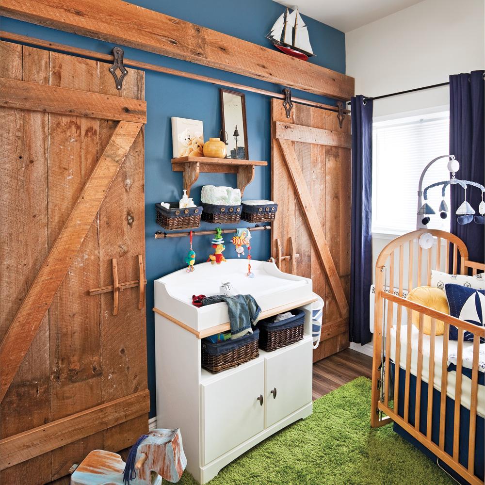 chambre de b b champ tre d cors d 39 enfants inspirations d coration et r novation pratico. Black Bedroom Furniture Sets. Home Design Ideas