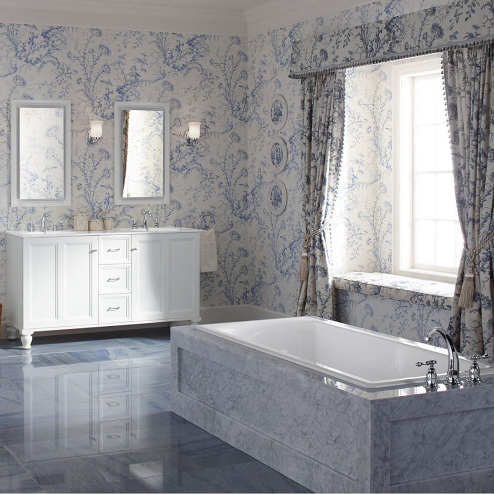 Ambiance baroque dans la salle de bain salle de bain for Salle bain baroque