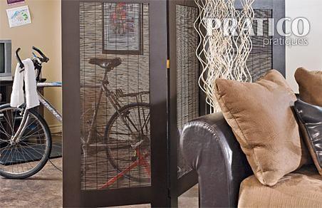 fabriquer un paravent en tapes d coration et r novation pratico pratique. Black Bedroom Furniture Sets. Home Design Ideas